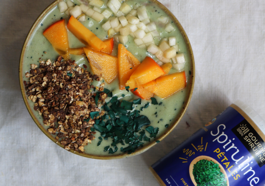 SMOOTHIE BOWL SPIRULINE JANVIER - INSTAGRAM